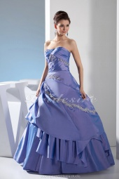 Ball Gown Strapless Floor-length Sleeveless Satin Dress