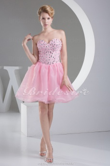 Princess Sweetheart Short/Mini Sleeveless Organza Dress