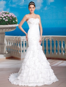 Mermaid/Trumpet Taffeta Court Train Sweetheart Wedding Dress