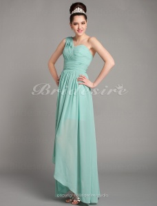 Shealth/Column Asymmetrical Chiffon Sweetheart Bridesmaid Dress