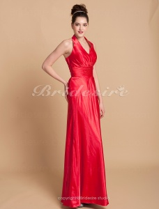 Sheath/ Column Charmeuse Asymmetrical Halter Bridesmaid/ Wedding Party Dress