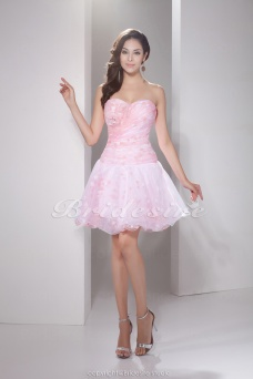 Ball Gown Sweetheart Short/Mini Sleeveless Organza Dress
