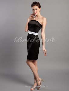 Sheath/Column Strapless Stain Short/Mini Bridesmaid Dress