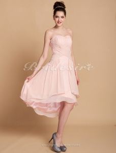 Sheath/Column Chiffon Asymmetrical Sweetheart Cocktail Dress
