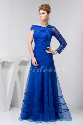 Trumpet/Mermaid Floor-length Long Sleeve Organza Dress