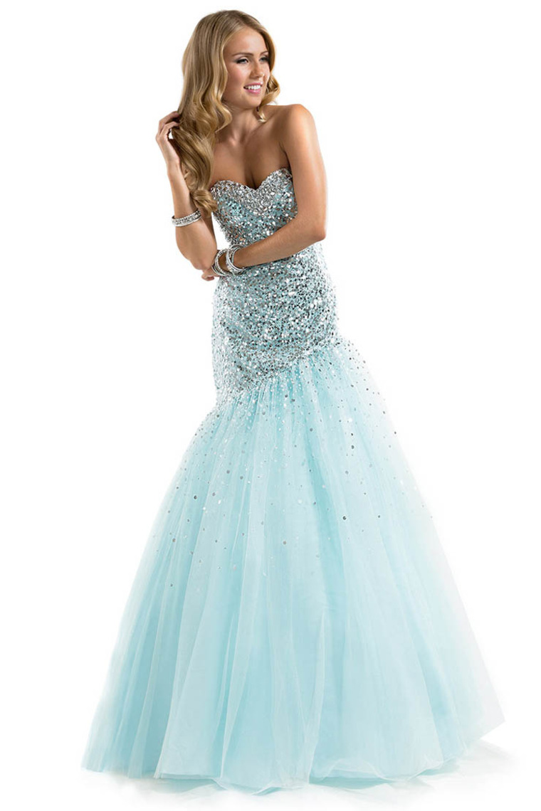 Trumpet/Mermaid Sweetheart Floor Length Tulle Dress