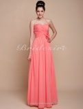 Sheath/ Column Floor-length Chiffon Sweetheart Bridesmaid Dress