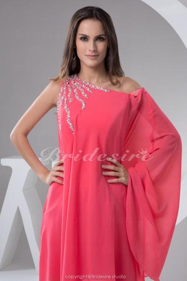bridesire aline one shoulder shortmini sleeveless
