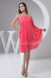 A-line One Shoulder Short/Mini Sleeveless Chiffon Mother of the Bride Dress