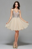 Princess V-neck Short/Mini Chiffon Prom Dress