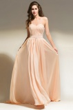 A-line Sweetheart Sweep/Brush Train Chiffon Bridesmaid Dress