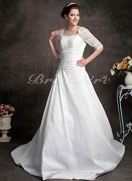 4db27e3ae8d Ball Gown Sweetheart Lace Satin Court Train Wedding Dress