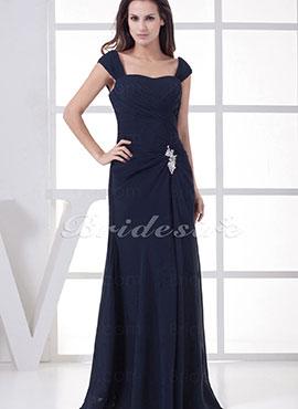 e06b86ba9 Sheath Column Straps Floor-length Sleeveless Chiffon Dress
