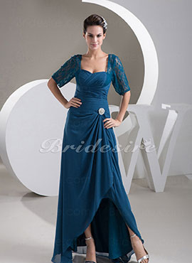 8e7507ba90ba8 Sheath Column Sweetheart Floor-length 3 4 Length Sleeve Chiffon Dress
