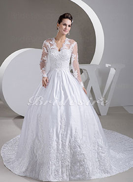 3570719130d Bridesire - Dresses With Sleeves For Brides  Vintage And Elegant ...