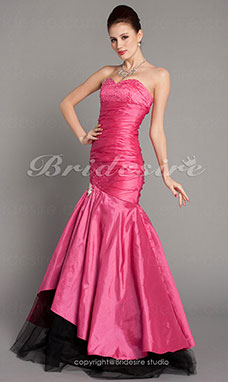 Trumpet/ Mermaid Sweetheart Strapless Taffeta Floor-length Prom/ Evening Dress
