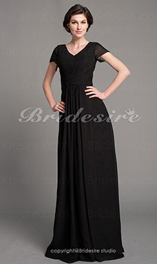 Sheath/Column Chiffon Floor-length V-neck Evening Dress inspired by Taylor Swift