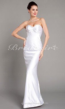 Sheath/ Column Satin Floor-length Sweetheart Evening Dress