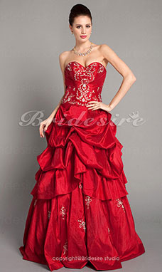 Ball Gown Taffeta Floor-length Sweetheart Evening/ Prom Dress