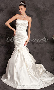 Mermaid/Trumpet Sweetheart Court Train Satin Wedding Dress