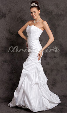 Mermaid//Trumpet Taffeta Court Train Sweetheart Wedding Dress