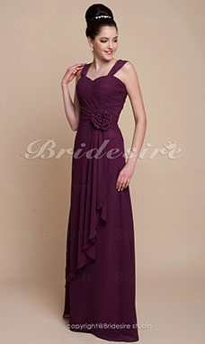 A-line Floor-length Chiffon Sweetheart Bridesmaid Dress