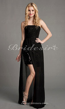 Sheath/ Column Floor-length Sweetheart Sequined Chiffon Evening Dress
