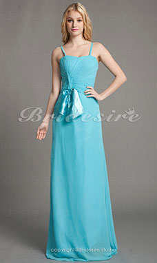 A-line Princess Chiffon Floor-length Sweetheart Bridesmaid Dress