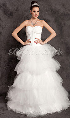Ball Gown Tulle Court Train Sweetheart Wedding Dress