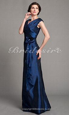 Trumpet/Mermaid Taffeta Floor-length V-neck Mother Of The Bride Dress