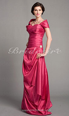Sheath/Column Taffeta Floor-length Off-the-shoulder Mother Of The Bride Dress