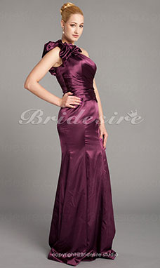 Trumpet/Mermaid Taffeta Floor-length One Shoulder Mother Of The Bride Dress