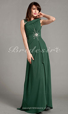 Sheath/Column Chiffon Floor-length Straps Mother of the Bride Dress With A Wrap
