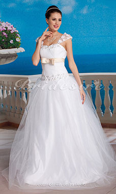 Ball Gown Tulle Floor-length Sweetheart Wedding Gown
