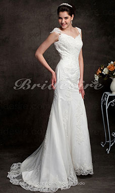 Trumpet/Mermaid Court Train Satin Sweetheart Wedding Dress