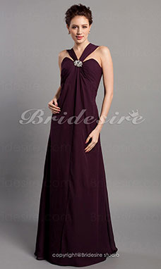 Sheath/Column Chiffon Sweetheart Floor-length Bridesmaid Dress
