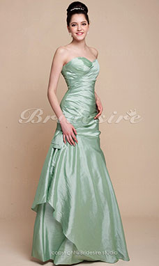 Trumpet/Mermaid Taffeta Floor-length Sweetheart Bridesmaid Dress