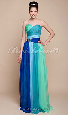 Sheath/Colum Chiffon Floor-length Sweetheart Evening Dress