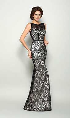 Trumpet/Mermaid Bateau Sleeveless Lace Dress