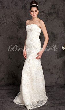 Trumpet/Mermaid Lace Floor-length Sweetheart Wedding Dress