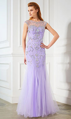Trumpet/Mermaid Scoop Sleeveless Tulle Dress