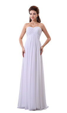 A-line Sweetheart Floor-length Chiffon Wedding Dress