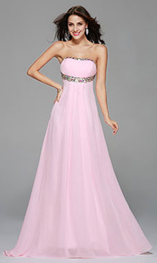 Trumpet/Mermaid Sweetheart Sweep/Brush Train Chiffon Evening Dress