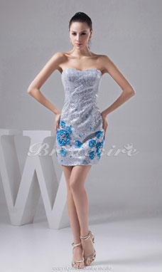 Sheath/Column Sweetheart Short/Mini Sleeveless Lace Dress