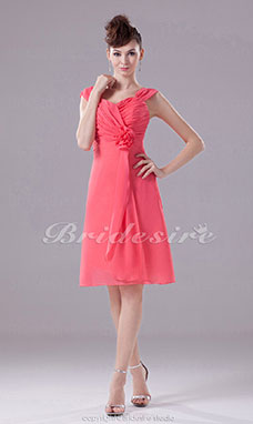 A-line Sweetheart Straps Short/Mini Sleeveless Chiffon Dress