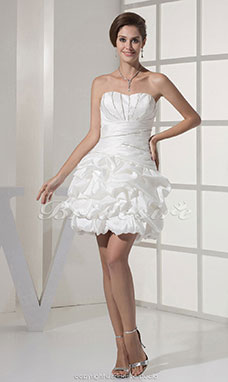 Princess Sweetheart Short/Mini Sleeveless Taffeta Dress