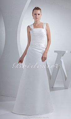 Trumpet/Mermaid Straps Floor-length Sleeveless Satin Wedding Dress
