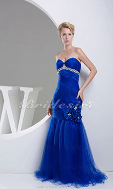 Trumpet/Mermaid Sweetheart Floor-length Sleeveless Tulle Dress
