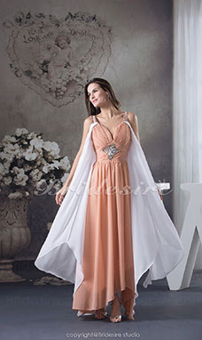Sheath/Column Straps Ankle-length Sleeveless Chiffon Dress