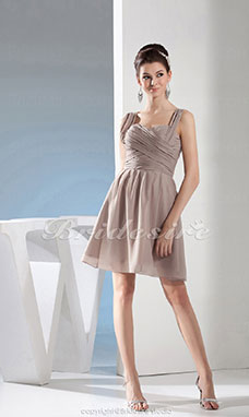 A-line Sweetheart Knee-length Sleeveless Chiffon Bridesmaid Dress